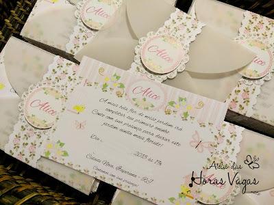 convite de aniversário infantil personalizado provençal jardim encantado floral rosa delicado passarinhos borboletas