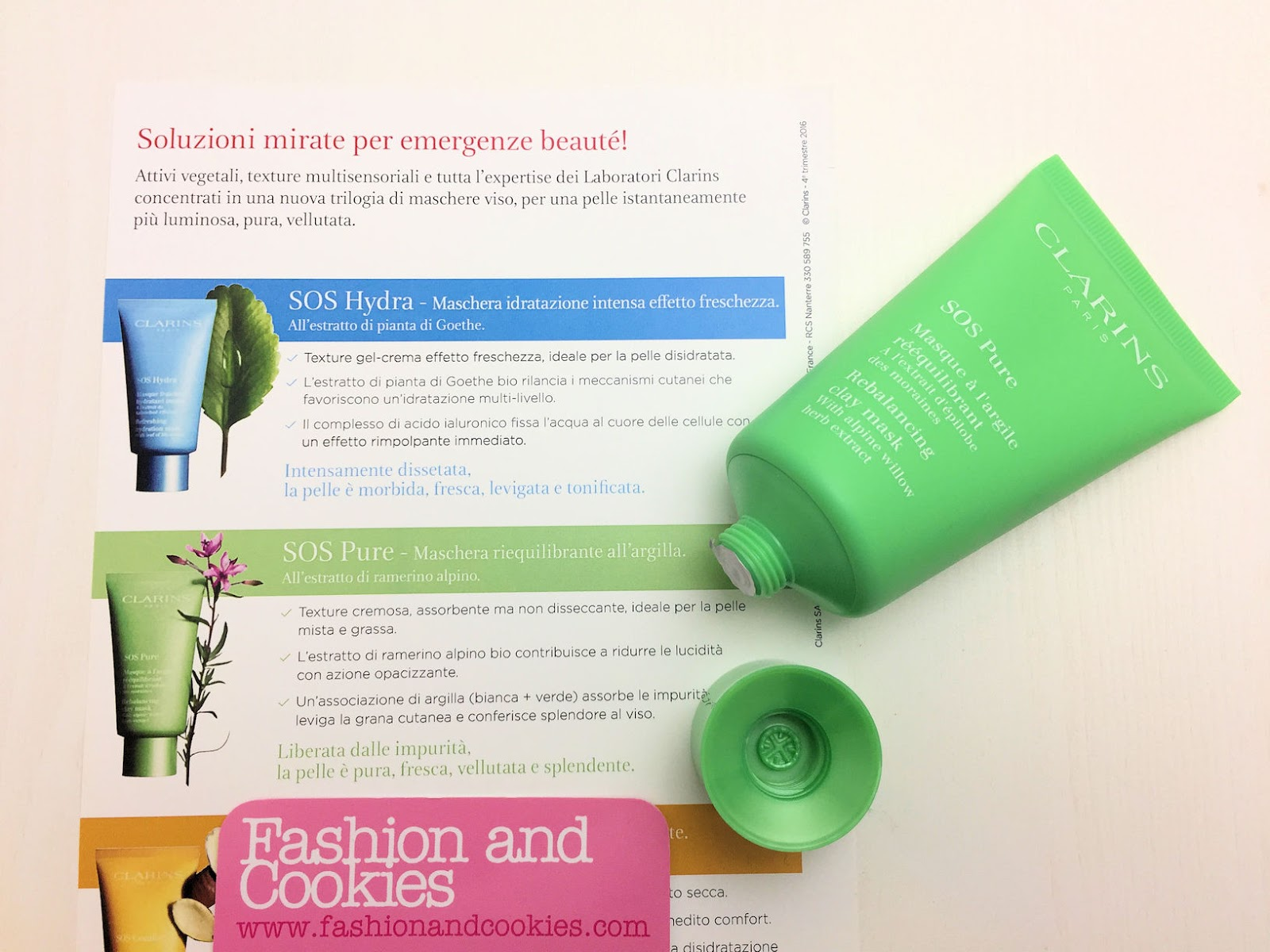 Maschere SOS Clarins: Hydra, Pure e Comfort su Fashion and Cookies beauty blog, beauty blogger
