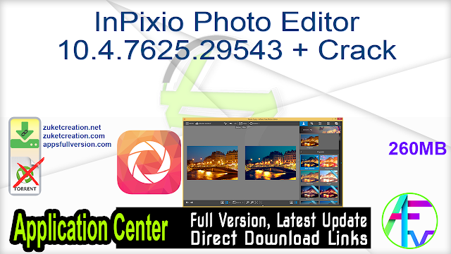 InPixio Photo Editor 10.4.7625.29543 + Crack