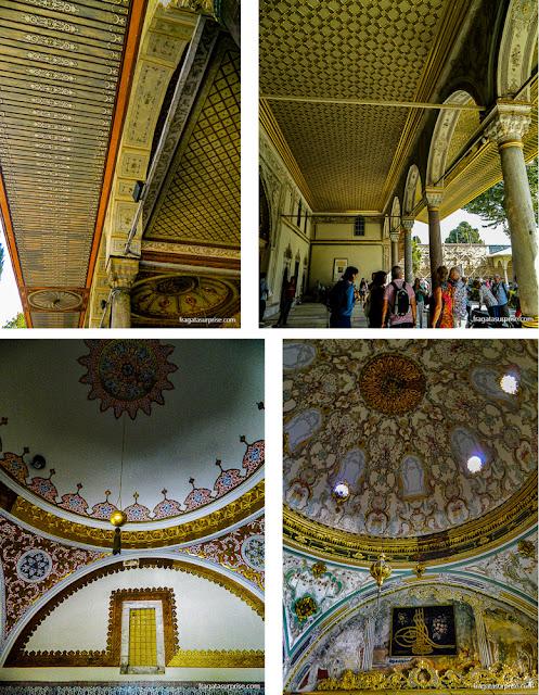 Decoração do pavilhão do Harém do Palácio de Topkápi, em Istambul