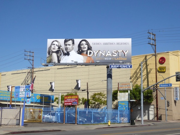 Dynasty series launch billboard
