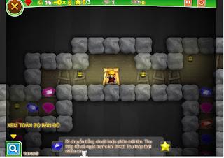 Game tìm kho báu Ninja đào mỏ hay