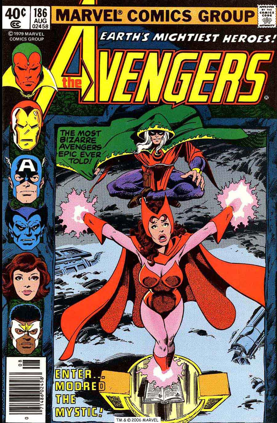 Avengers #186 marvel 1970s bronze age comic book cover art by John Byrne