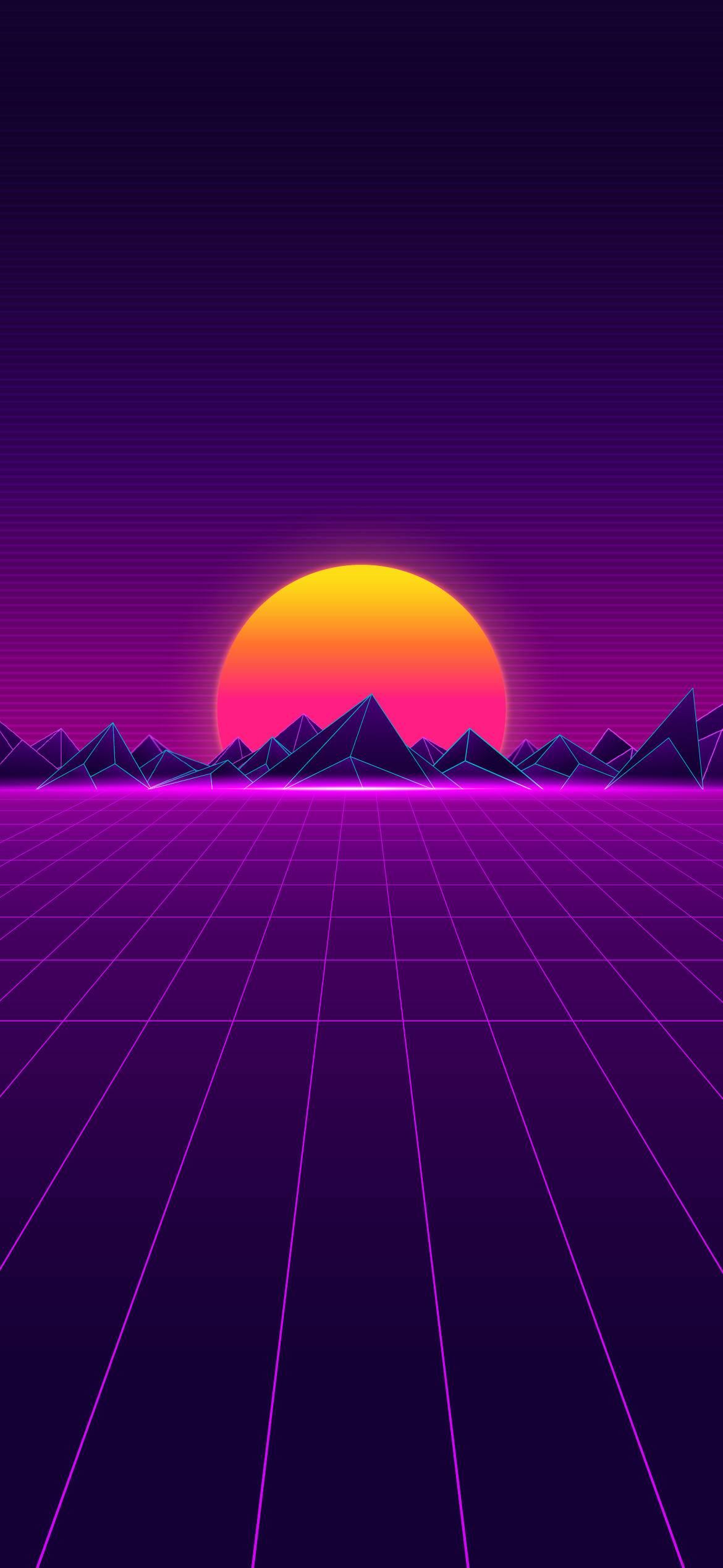 futuristic, synthwave, landscape synth retrowave