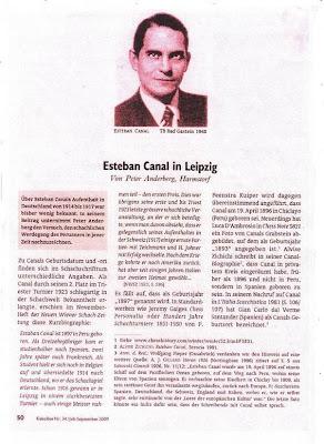 Artículo sobre Esteban Canal en la revista alemana Kaissiber, nº 34