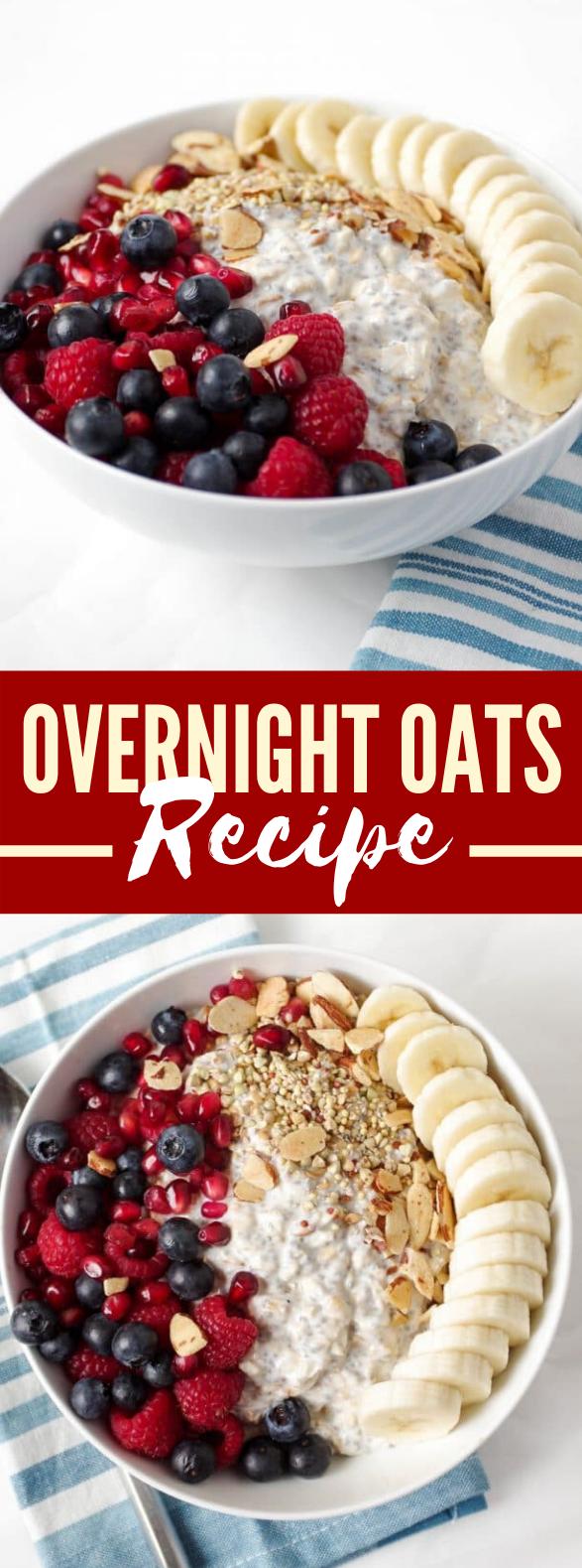 OVERNIGHT OATS RECIPE #breakfast #healthy
