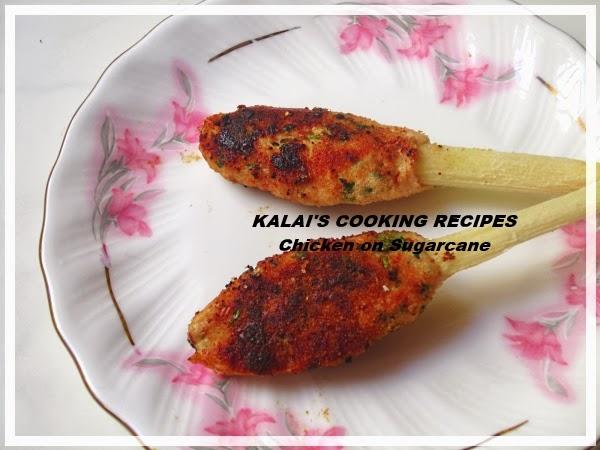Chicken Kebab On Sugarcane | கரும்பு சிக்கன் கபாப் | Kozhi Kari Tawa Kebab