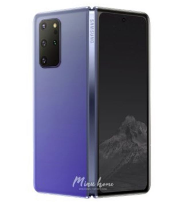 New data - new render. The designer created an image of the Samsung Galaxy Fold 2 based on the latest information.