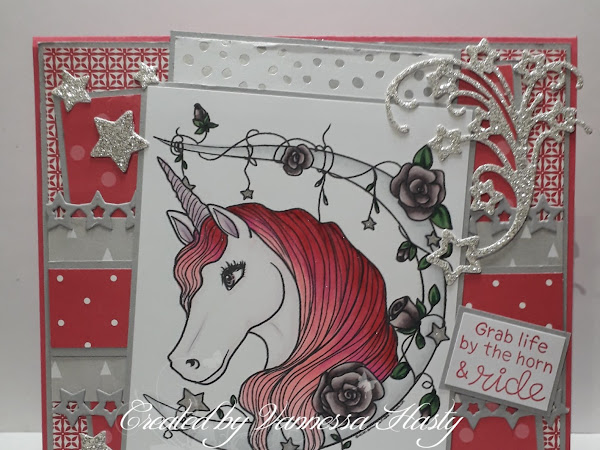 Starry Sparkly card featuring Unicorn Moon