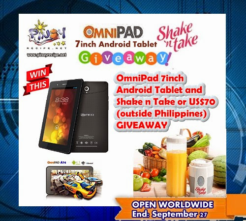2 Winners - Win a Neo OmniPad 7inch Android Tablet and Shake n Take Blender! Open Worldwide | Promos for Pinoys | Giveaways, Contests, Sales, Promos and Deals in the Philippines