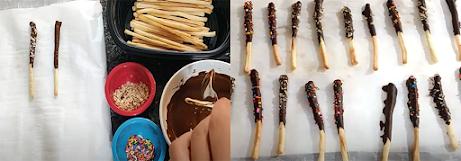 chocolate breadsticks recipe