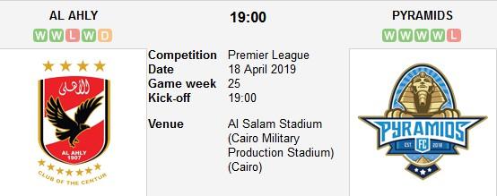 مباراة الأهلي و بيراميدز بث مباشر 18/04/2018 الدوري المصري