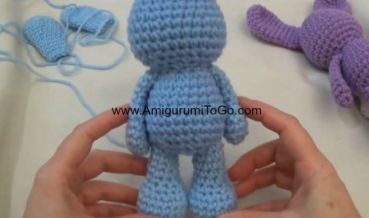 Amigurumi Doll Arms : Little bigfoot bunny with video tutorial amigurumi to go