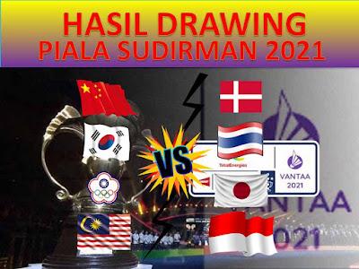 Hasil Drawing Perempatfinal Piala Sudirman 2021, Indonesia Vs Malaysia