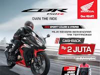 MPM Motor Jatim & NTT berikan Promo Cashback Untuk Pembelian Motor Sport Honda.