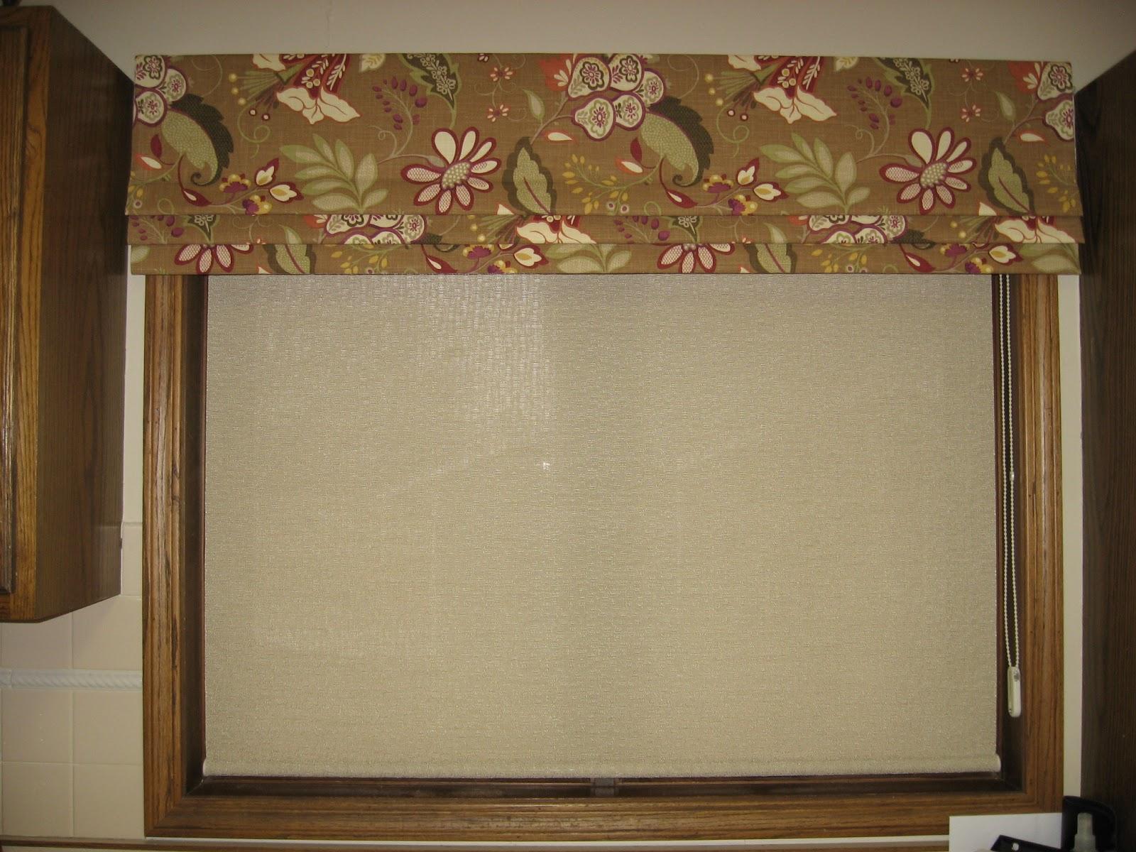 Window Fashions A Simple Roman Shade Valance
