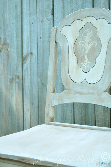 Painted chairs makeover