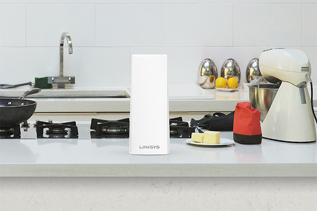 You could even place it in the kitchen if you like, pic source from Linksys website