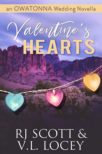 Valentine's Hearts by RJ Scott & V.L. Locey. An Owatonna wedding novella.