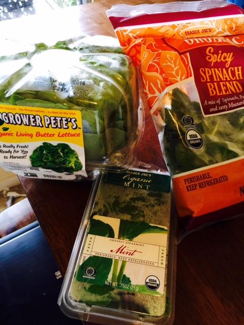 Salad greens, lettuce