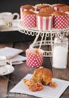 Muffins de frambuesa con azúcar moreno de Lorraine Pascale