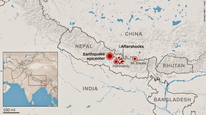 Aftershocks felt after the powerful Nepal Earthquake
