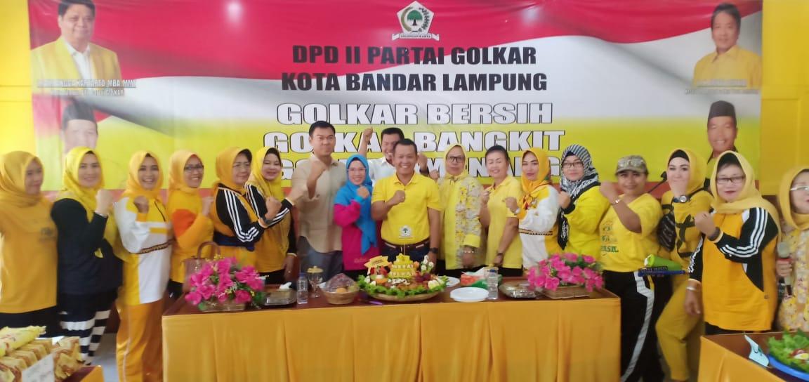 HUT ke-55, DPD Partai Golkar Bandarlampung Gelar Berbagai Rangkaian Acara