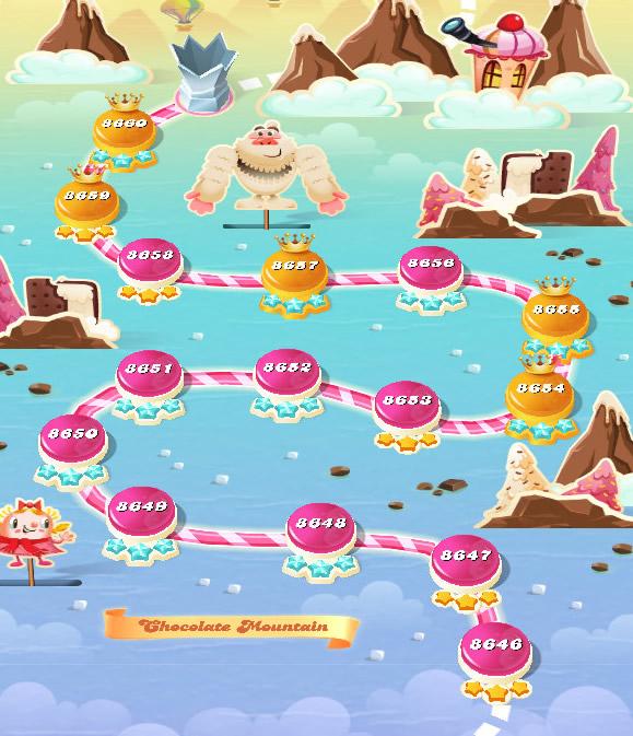 Candy Crush Saga level 8646-8660