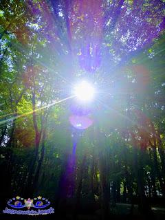 magia - energia światła oświetla mrok - niebiesko fioletowa - Joanna Wachowicz
