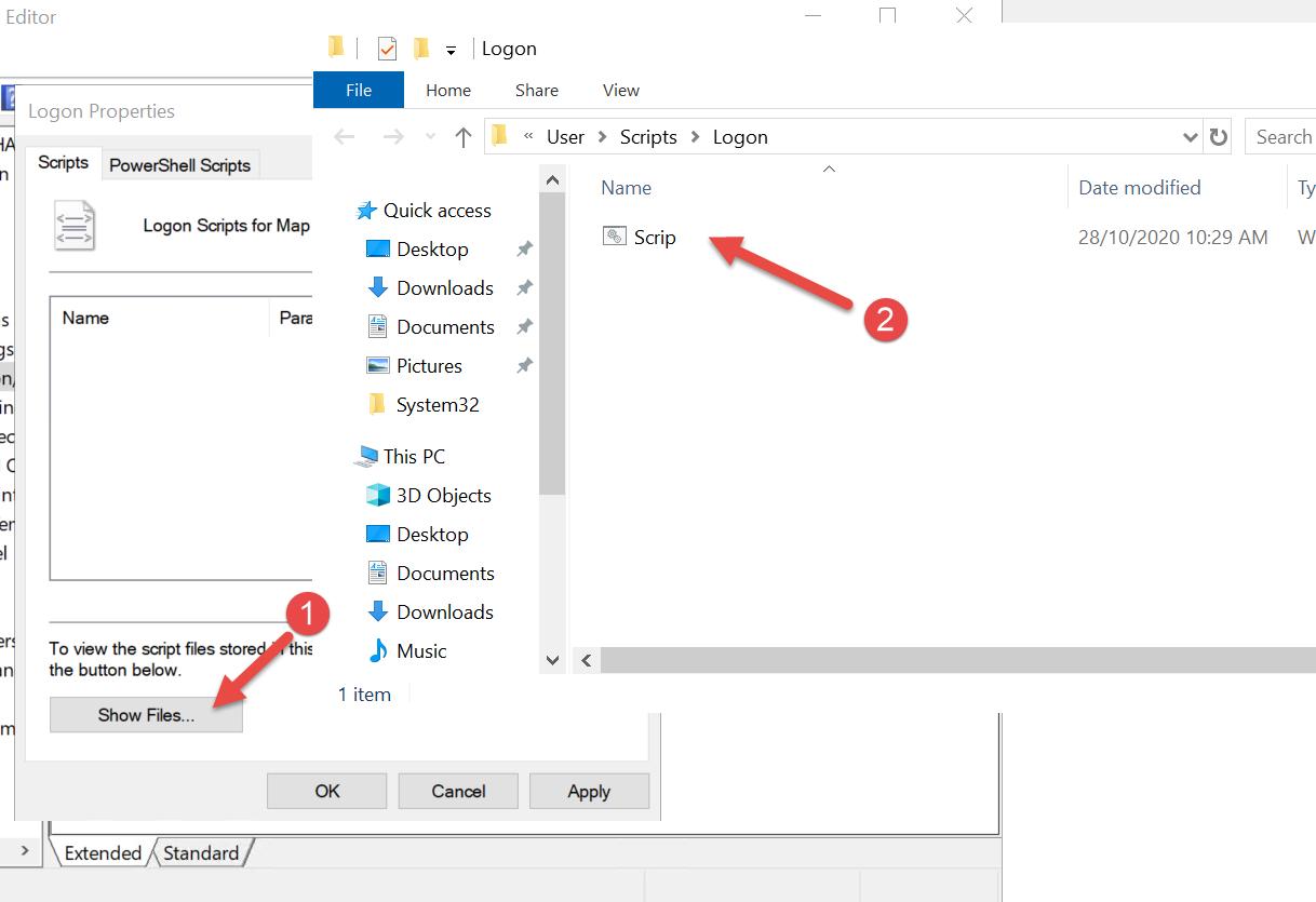 Group Policy map ổ đĩa File Server