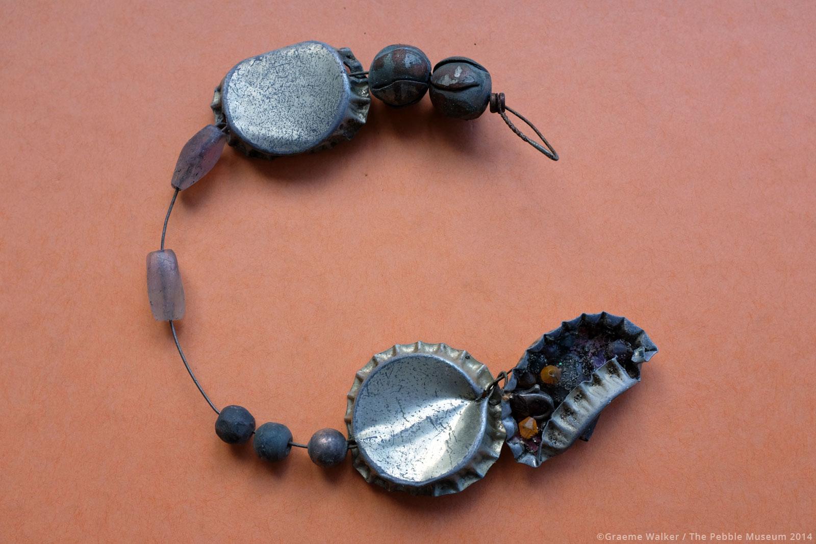 Bottle Cap and Sea Glass Bracelet © Graeme Walker / The Pebble Museum 2019