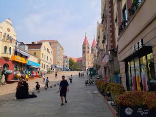 A Corner of Qingdao City