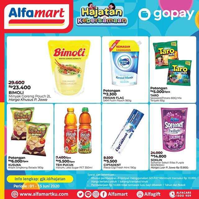 #Alfamart - #Promo Hajatan Bayar Pakai GOPAY (s.d 15 Juni 2020)