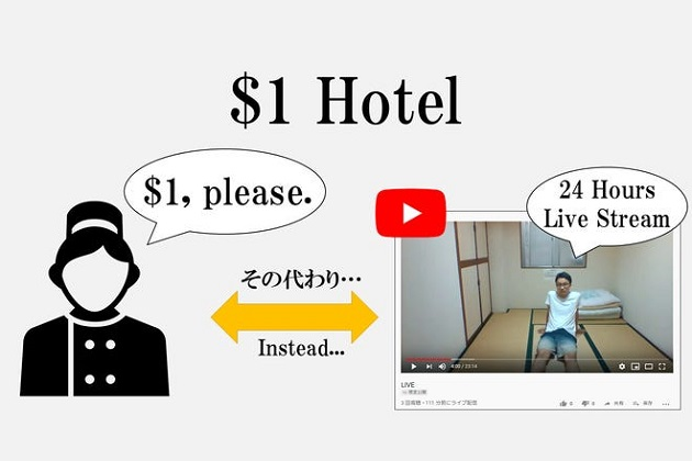 for a  strange condition a japanese hotel had to offer room for $1 a night