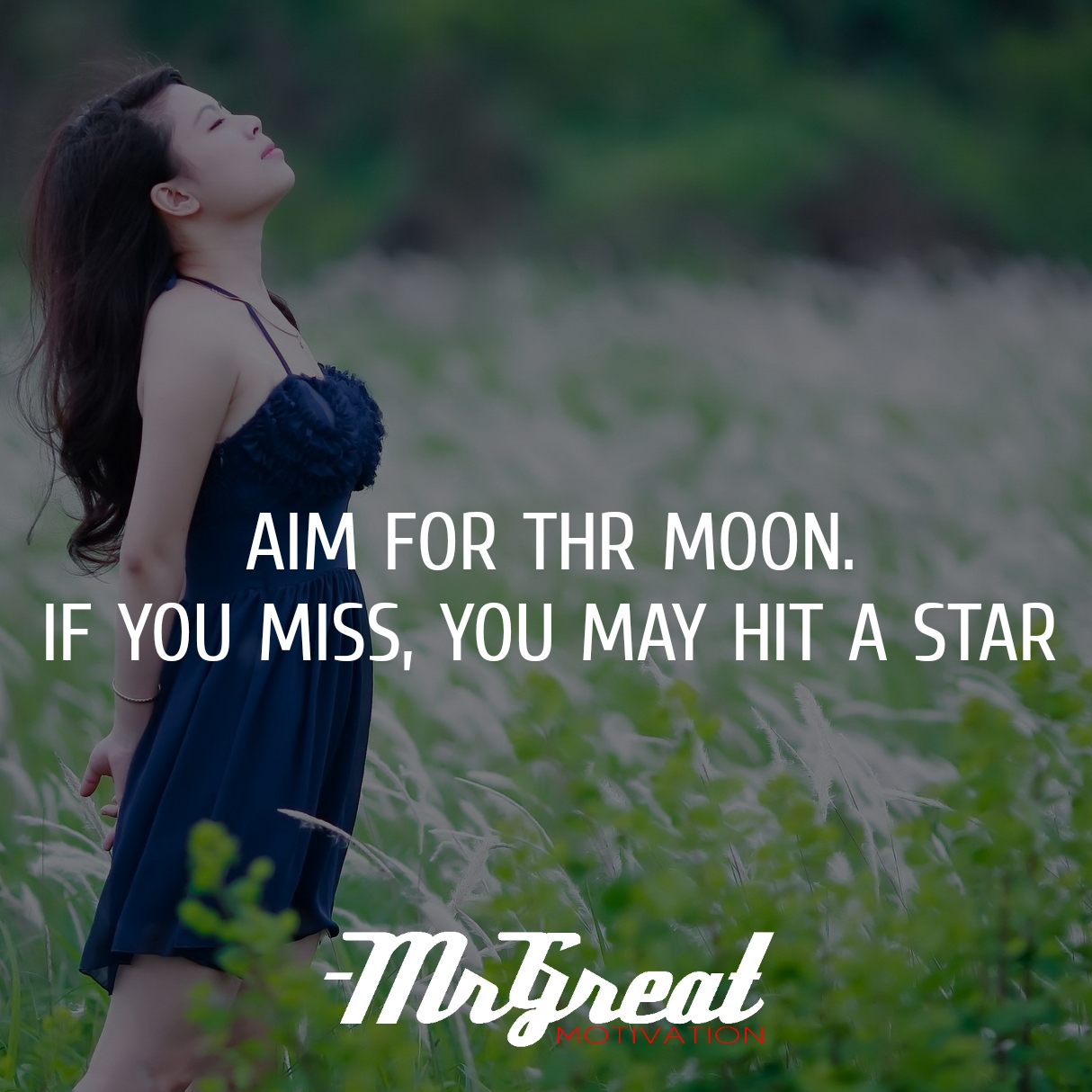 AIM FOR THE MOON, IF YOU MISS YOU MAY HIT A STAR