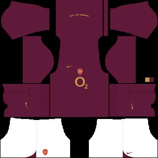 Arsenal 2004/2005 Classic Kits Dream League Soccer