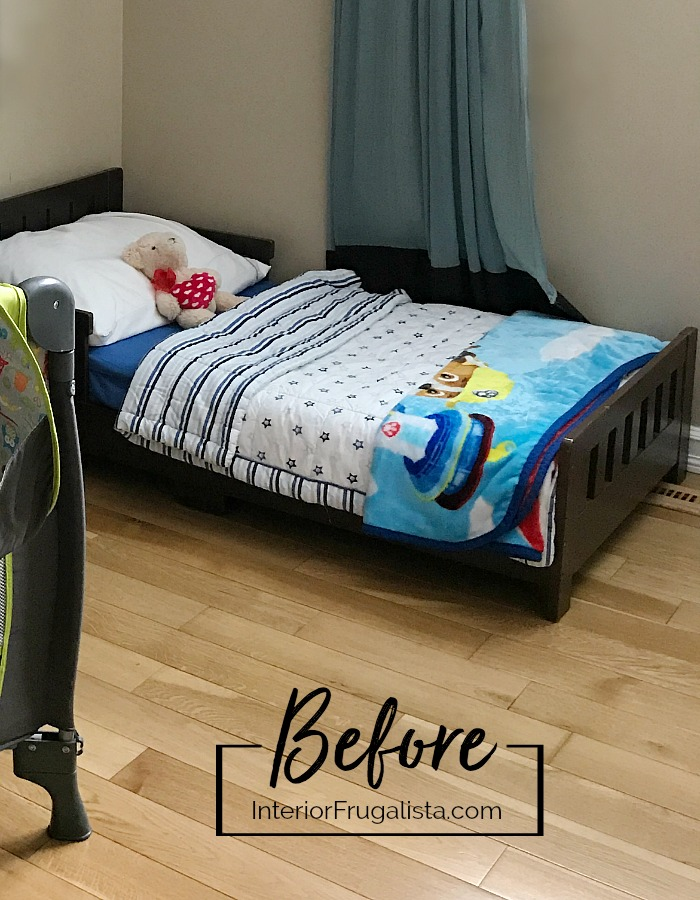 Toddler Bed Makeover Before