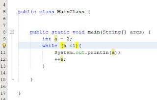 contoh while di java 2