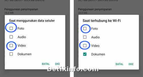 pilihan unduhan media video foto Whatsapp