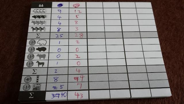 アグリコラ 牧場の動物たち (得点計算)