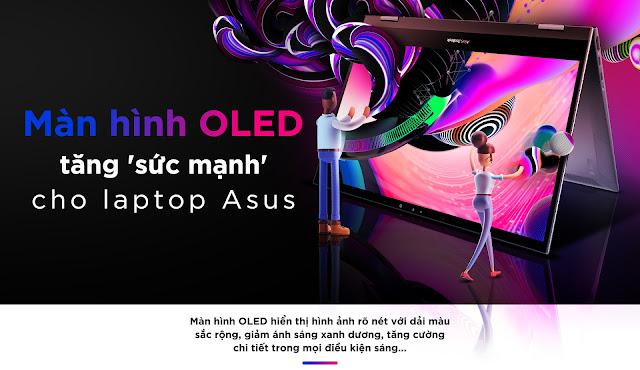 ASUS trang bị màn hình OLED trên các dòng laptop cao cấp