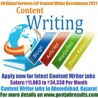 LN Global Career Services LLP Content Writer Recruitment 2021-22