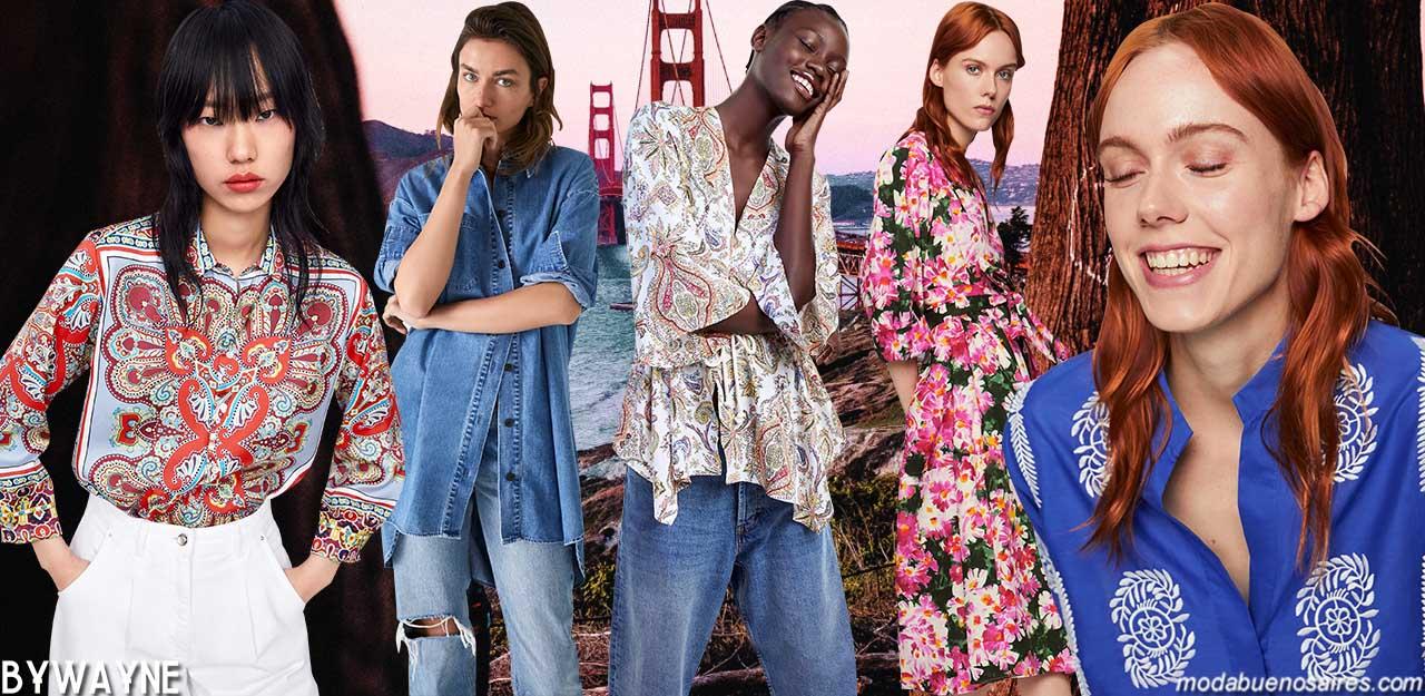 Moda primavera verano 2020 para mujer según la firma mundialmente reconocida que marca tendencias de moda ZARA. Moda 2020.