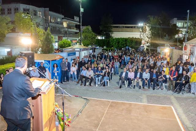 Αλληλέγγυα Πόλη: Με μεγάλο ενθουσιασμό για αλλαγή σελίδας στο Ίλιον και νικηφόρο κλίμα πραγματοποιήθηκε η κεντρική ομιλία του Κ. Κάβουρα