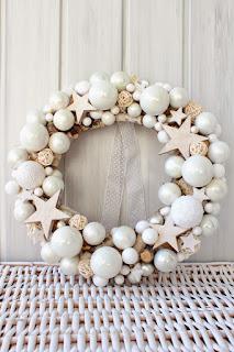 ghirlanda natalizia fai da te total white