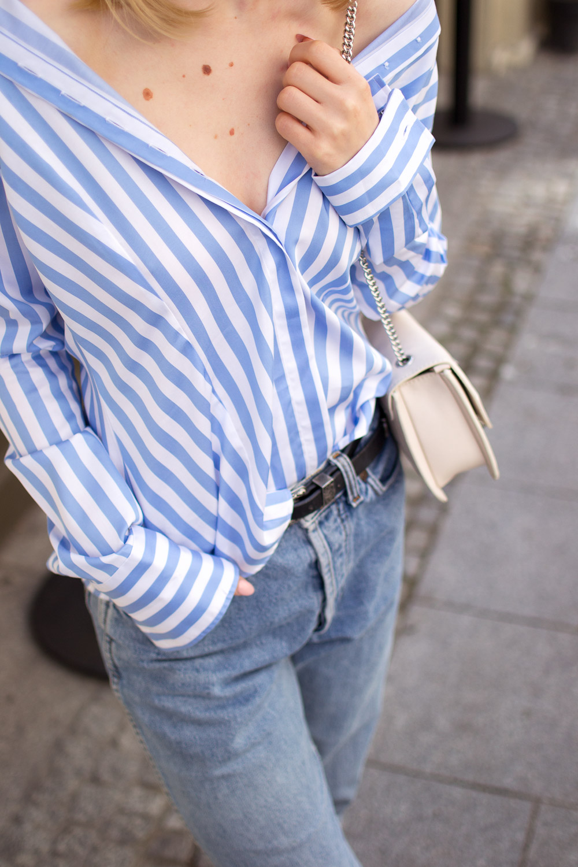 Koszula w paski stylizacja