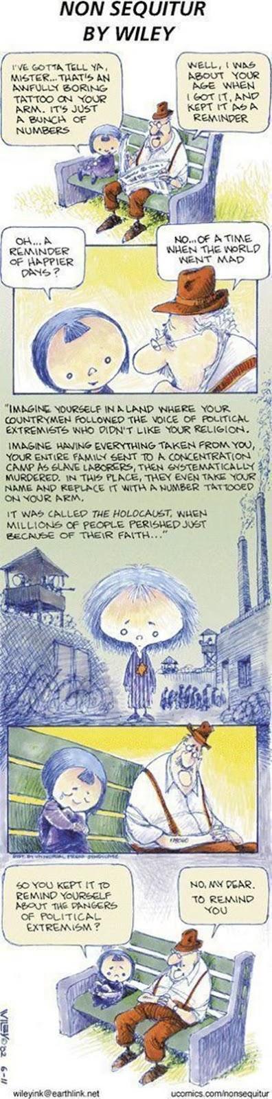 viñeta sobre judios y el holocausto nazi