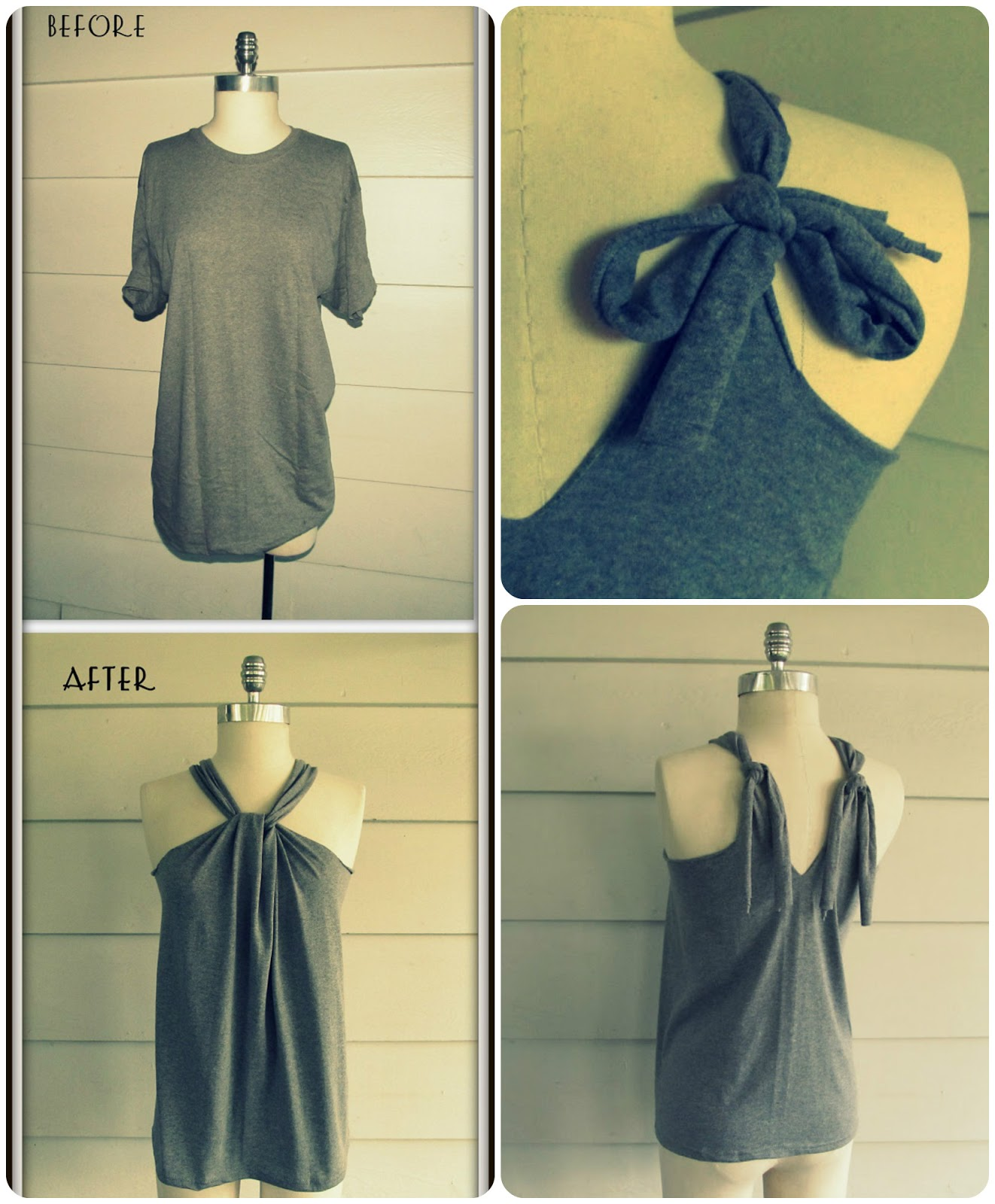 No Sew T-Shirt Halter - DIY Craft Projects