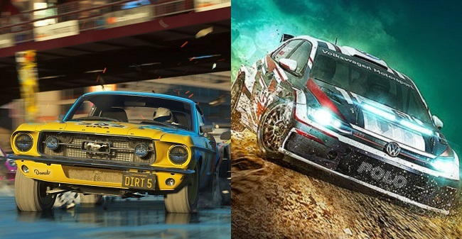 Comparison and differences in Dirt 5 vs Dirt Rally 2.0