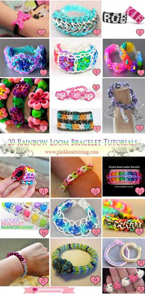 loom band bracelet ideas